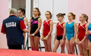 Russian Gymnastics National Womens Team at Round Lake training camp