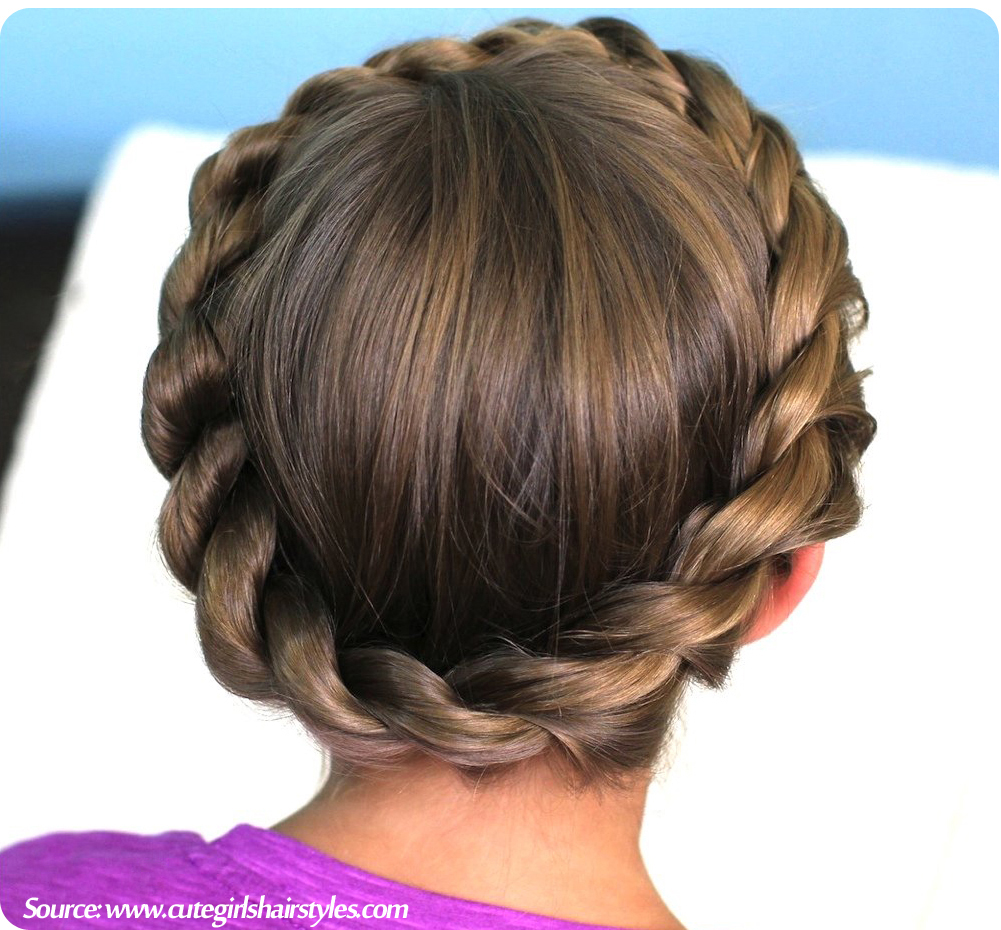 cool anime hairstyles : Best for: Gymnasts looking for a glamorous but comfortable hairstyle.